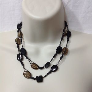 Beaded pendant length necklace